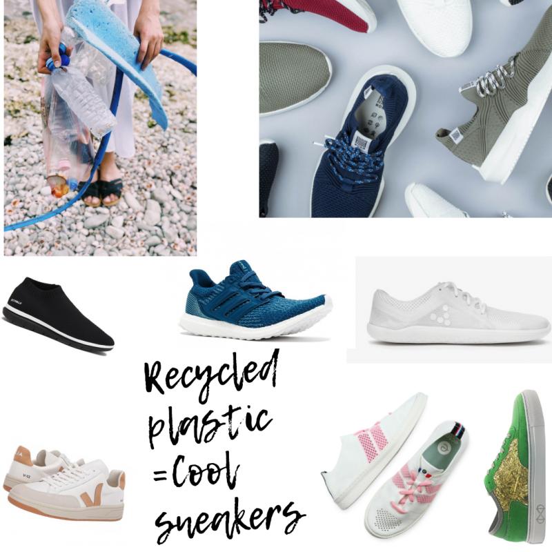 plastic sneakers