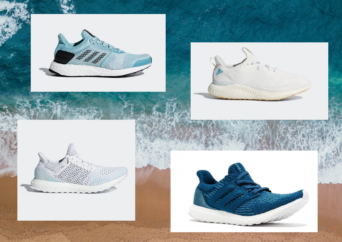 Adidas parley sneakers, run the ocean campaign