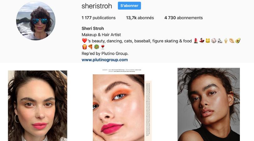 makeup artist Sheri Stroh