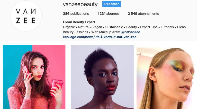 makeup artist Nat Van Zee
